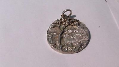 Rare Beautiful 800 Silver Charm Pendant Wives Club Naples Italy Large 9 Grams
