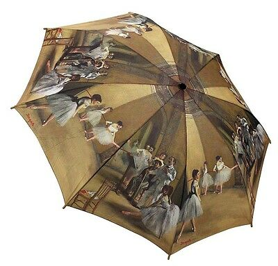 Galleria New Degas Ballet Class Ballerina  Automatic Open Close Folding Umbrella