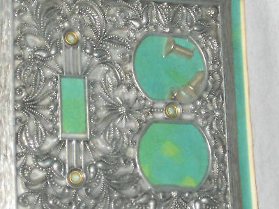 Vintage Mid Century Light Switch Plates Mint In Package Decorative Metal