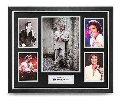 Sir Tom Jones Signed Photo Large Framed Music Memorabilia Autograph Display +COA