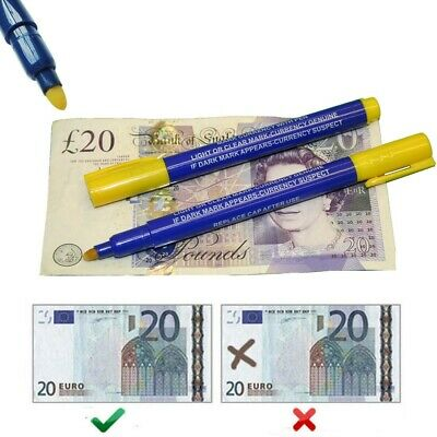 5x Bank Note Checker Pens Counterfeit Fake Forged Money Detector Tester Marker