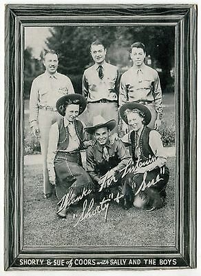"Vintage KOA Radio Promo Card: Western Singers & ""The Coors Song"" [Denver, CO]"
