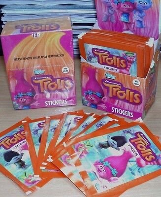 Topps Trolls Stickers: Choose  quantity: 10 25 50 packets or Box