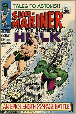 Tales To Astonish #100 - VF/NM - Classic Sub-Mariner Vs. Hulk Battle