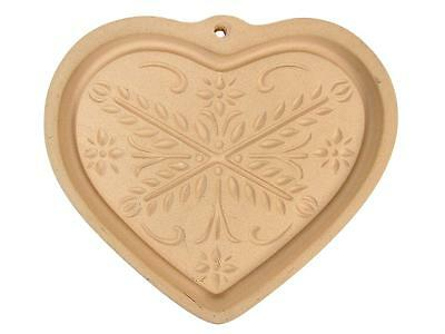 The Pampered Chef 2000 ANNIVERSARY HEART Stoneware Cookie Chocolate Mold #19