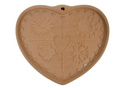 The Pampered Chef 1997 SEASONS OF THE HEART Stoneware Cookie Chocolate Mold #8