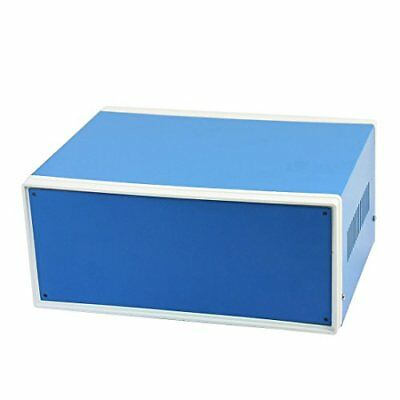 """uxcell 9.8"""" x 7.5"""" x 4.3"""" Blue Metal Enclosure Project Case DIY Junction Box New"""