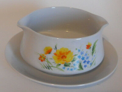 Imperial China W. Dalton Just Spring Gravy Boat Serving Bowl Under Plate Japan