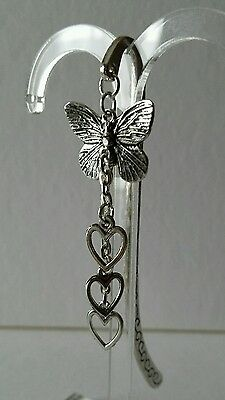 Butterfly and Hearts  Bookmark.
