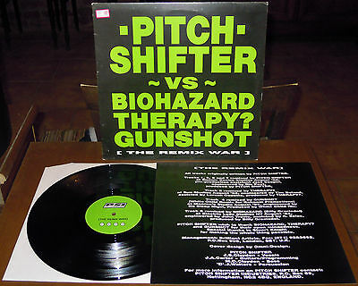 "EP 12"" PITCHSHIFTER The remix war (Earache 94 UK) Biohazard Therapy? insert EX!"