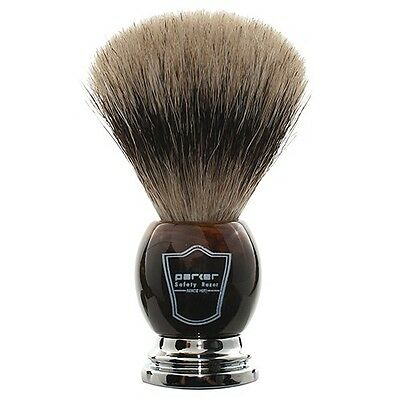 Deluxe Parker Faux Horn Handle Handmade Pure Badger Shave Brush Large 22mm Knot