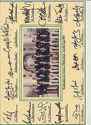 Australia World Cup 1989 signed photo card