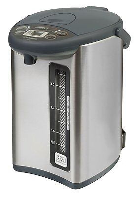 Zojirushi CD-WHC40XH Micom Water Boiler and Warmer, 135 oz, Stainless Gray