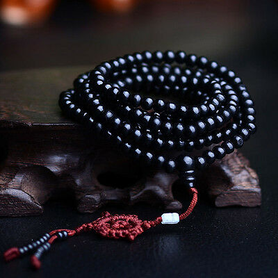 Buddhist Buddha Meditation Sandalwood 216 Prayer Bead 6mm Mala Bracelet Necklace