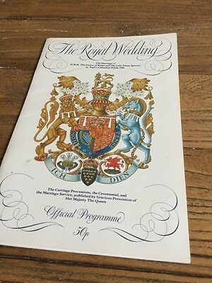 Royal Wedding 1981 Official Programme