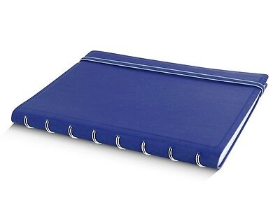 Blue A5 Filofax Notebook Refillable Spiral Bound Repositionable Sheets Pages