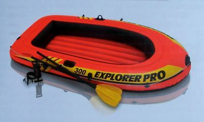 Schlauchboot Explorer 300 Set Paddel Pumpe Boot Paddelboot Ruderboot Intex 58358