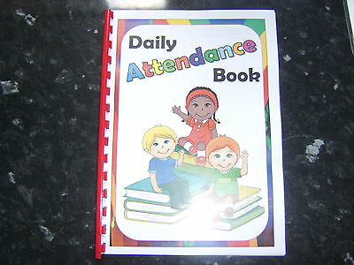 attendance book childcare setting perfect for childminder nursery playgroup