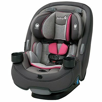 Safety 1st Grow and Go 3-in-1 Convertible Car Seat, Everest Pink New