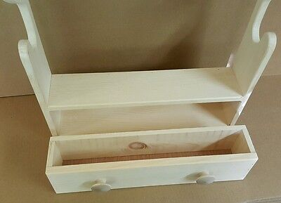 Gun Rack unfinished pine wood with amo drawer hand made in USA holds 2 guns