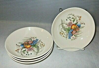 Vintage Universal Potteries China Ballerina UNI23 Fruit & Floral Set 42 Pieces B