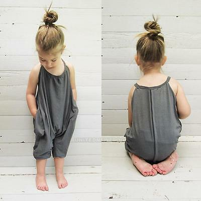 Baby Toddler Summer Clothes Kids Girls Fashion Jumpsuit Romper Size 1 2 3 4 5 6