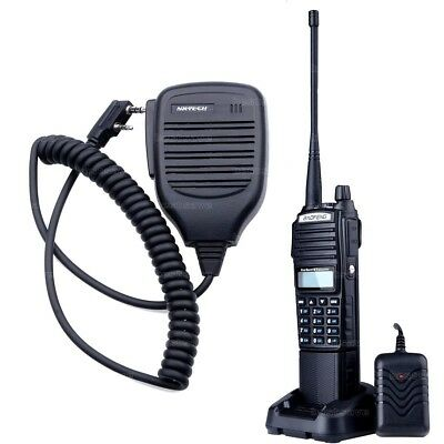 BaoFeng UV-82 VHF UHF 5W FM Ham Two Way Radio Walkie Talkie 4200mAh Battery Mic