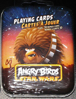 $6 Sale~Star Wars Angry Birds Chewbacca Playing Cards~Sealed Metal Tin