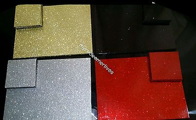 Luxury Festive Sparkle Glitter Dining Table Placemats & Coasters Set Gift NEW