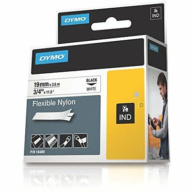 DYMO Industrial Labels for DYMO LabelWriter and Industrial Label Makers, Black
