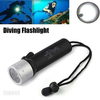 Underwater 1200LM CREE XM-L T6 LED Diving Flashlight Torch Lamp Light Waterproof