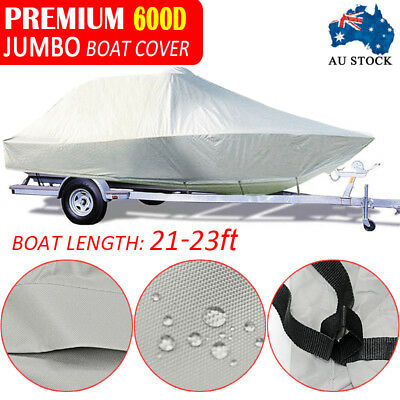 Design Heavy Duty 25FT-27FT (7.6M-8.2M) Trailerable Jumbo Boat Cover With Zipper