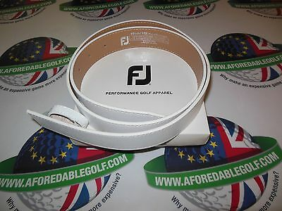 "New Footjoy White Leather Golf Belt Fits Upto 40"" Waist"