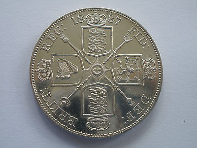 1887 Queen Victoria Silver Double Florin - Arabic 1 - Bu - Uk Post Free