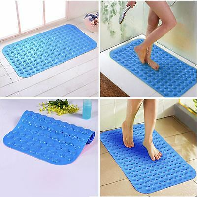 BLUE High Quality Large Strong Suction Anti Non Slip Bath Shower Foot Massage