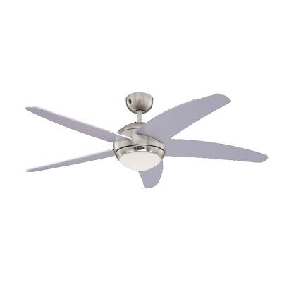 "Bendan 52"" Westinghouse Silver Ceiling Fan With Light & Remote"