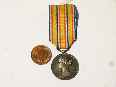 Silver FRANCE Fire Service Medal of Honour on Ribbon #R140D