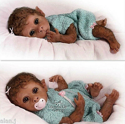"Ashton Drake Baby Monkey Doll""clementine Needs A Cuddle"" Poseable Weighted"