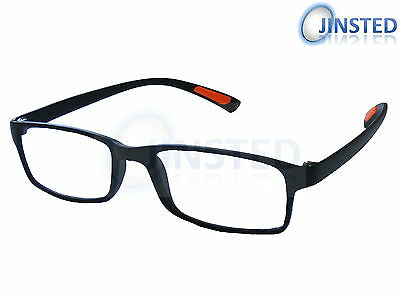 Black Lightweight Stylish Reading Glasses Specs Spectacles  Long Sighted RG007
