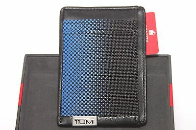 Tumi Alpha Blue Dot Money Clip ID Card Case RFID Chip Protection 0119251BDOID