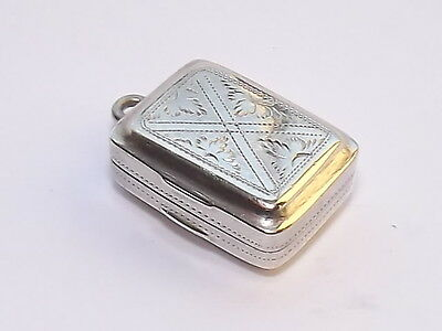 Delightful Antique Georgian Solid Silver Sterling Vinaigrette Birmingham 1820