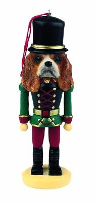Cavalier King Charles Spaniel Brown Dog Soldier Holiday NUTCRACKER ORNAMENT