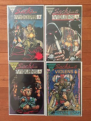 Other Modern Age Comics Bright Sachs And Violens #1-4 Complete Set Vf 1st Print Epic Comics Comics