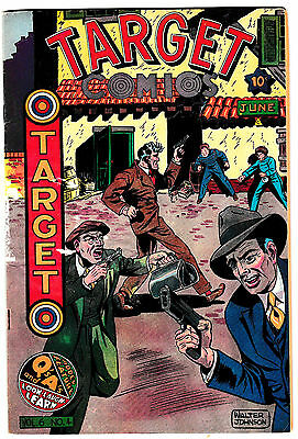 TARGET Vol.6 #4 (FN-) Golden-Age Crime Comic! 1949 Novelty Publication