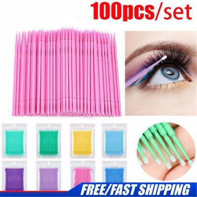 100PCS Disposable Eyelash Extension Micro Brush Swab Applicators Mascara Tools