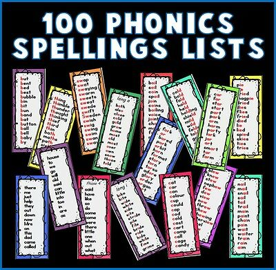Cd Phonics Spellings Lists Book Marks Teaching Resources Alphabet Eyfs Ks1