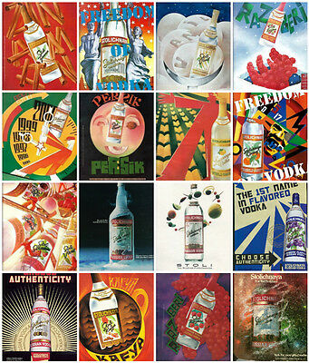 30 STOLICHNAYA Russian VODKA Yuri Gorbacher Leonid Gore Advertisements ADS Lot
