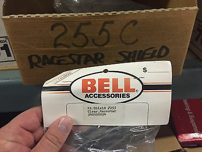 Vintage Replacement Face Shield For Bell Helmet Race star Clear 255 Nib Sealed