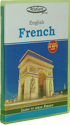 Learn French phrase book and 46 mp3 files on CD + bonus book on disc