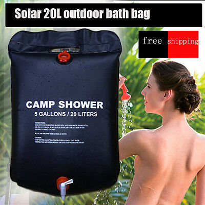 20L solar heated shower camping  bathing bag Portable Showers outdoor travel
